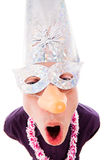 Funny man wearing party mask Royalty Free Stock Photography