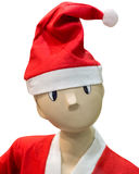 Funny mannequin in a Christmas hat Stock Photography
