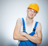 Funny manual worker Stock Photo