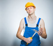 Funny manual worker Stock Images