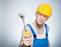 Funny manual worker Stock Photos