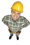 Funny manual worker portrait Royalty Free Stock Photos