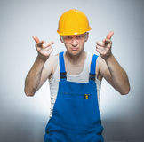 Funny manual worker Stock Photography