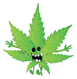 Funny marijuana leaf Royalty Free Stock Photos