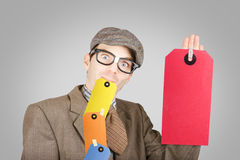 Funny marketing and sales businessman Royalty Free Stock Photo