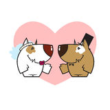 Funny married dog couple. Royalty Free Stock Images