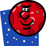 Funny mars planet cartoon illustration Stock Photos