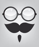 Funny mask retro sunglasses and mustache Royalty Free Stock Photos
