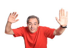 Funny mature man Stock Image
