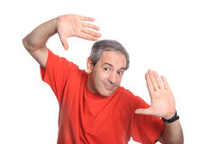 Funny mature man Royalty Free Stock Image