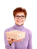 Funny Mature Woman With Surprise, Isoliert Royalty Free Stock Photography