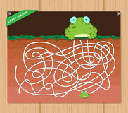 Funny maze game - beautiful educative for kid.  vector illustration