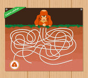 Funny maze game - beautiful educative for kid.  stock illustration