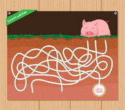 Funny maze game - beautiful educative for kid.  royalty free illustration