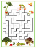 Funny maze game for Preschool Children. Royalty Free Stock Image