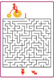 Funny maze game for Preschool Children Royalty Free Stock Photography