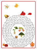 Funny maze game for Preschool Children. Royalty Free Stock Photos