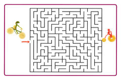 Funny maze game for Preschool Children. Royalty Free Stock Images
