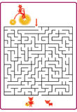 Funny maze game for Preschool Children. Royalty Free Stock Photography