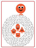 Funny maze game for Preschool Children Royalty Free Stock Image