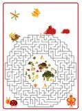 Funny maze game for Preschool Children Stock Photo