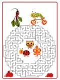 Funny maze game for Preschool Children. Stock Photos