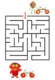 Funny maze game for Preschool Children. Royalty Free Stock Photos