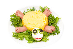 Funny meal for children. Stock Photo