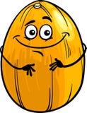 Funny melon fruit cartoon illustration Royalty Free Stock Photos