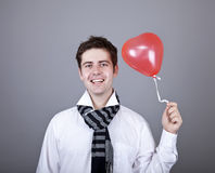 Funny men with balloon. Stock Photos