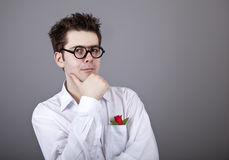 Funny men in glasses. Royalty Free Stock Image