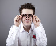 Funny men in glasses. Stock Image