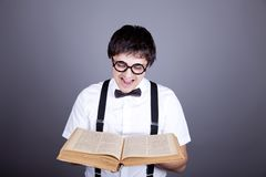Funny men keeping book. Stock Images