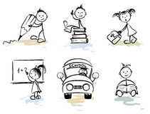 Funny Men - School vector illustration
