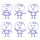 Funny men set vector illustration Stock Photography