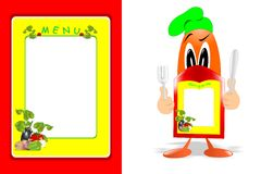 Funny menu, cdr vector Stock Image