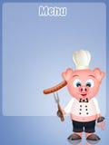 Funny menu Stock Photography