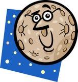 Funny mercury planet cartoon illustration Stock Photography