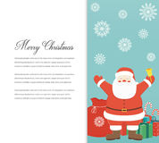 Funny Merry Christmas card. Christmas characters. Vector Royalty Free Stock Photo