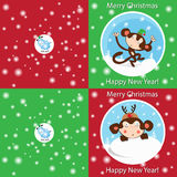 Funny Merry Christmas card Stock Photo