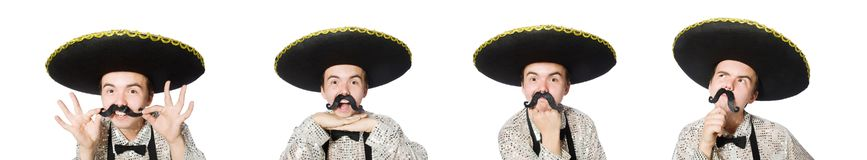 The funny mexican isolated on the white. Funny mexican isolated on the white stock photo