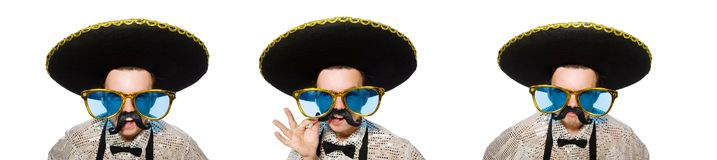 The funny mexican isolated on the white. Funny mexican isolated on the white stock image