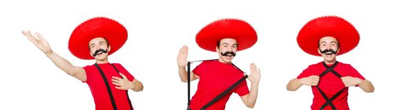 The funny mexican isolated on the white. Funny mexican isolated on the white royalty free stock images
