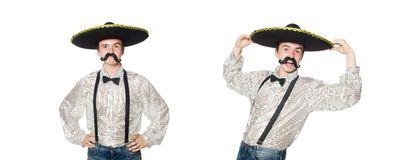 The funny mexican isolated on the white. Funny mexican isolated on the white stock images
