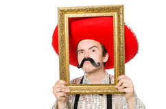 Funny mexican. Isolated on the white Royalty Free Stock Photo