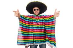 Funny mexican isolated on white Stock Images
