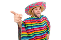 Funny mexican isolated on white Stock Image
