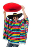 Funny mexican isolated on white Royalty Free Stock Photo