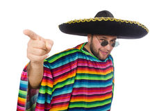 Funny mexican isolated on white Royalty Free Stock Photos
