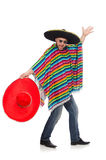 Funny mexican isolated on white Royalty Free Stock Image